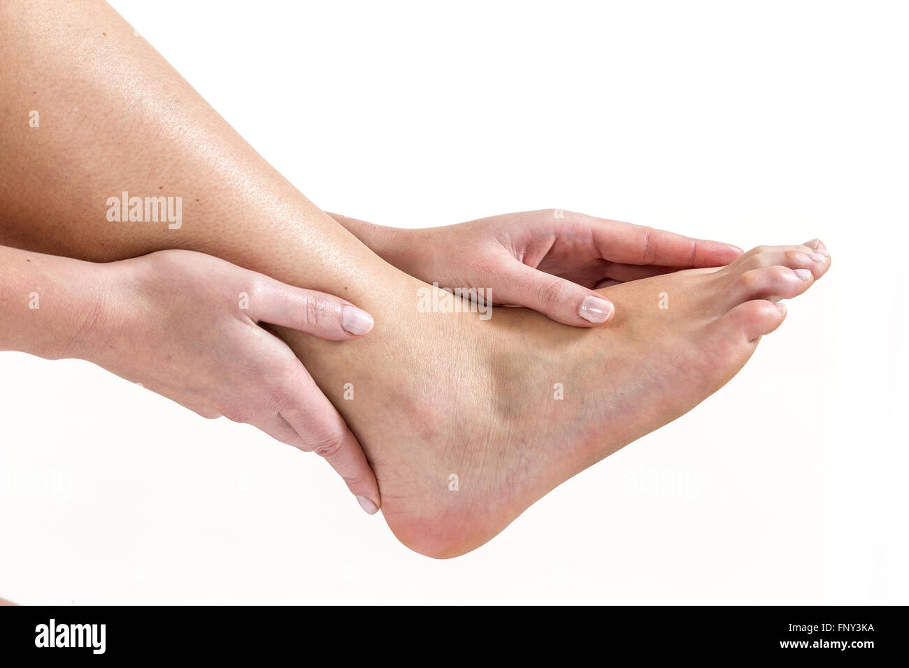 Human Ankle Pain With An Anatomy Injury Stock Photo 99555214 Alamy