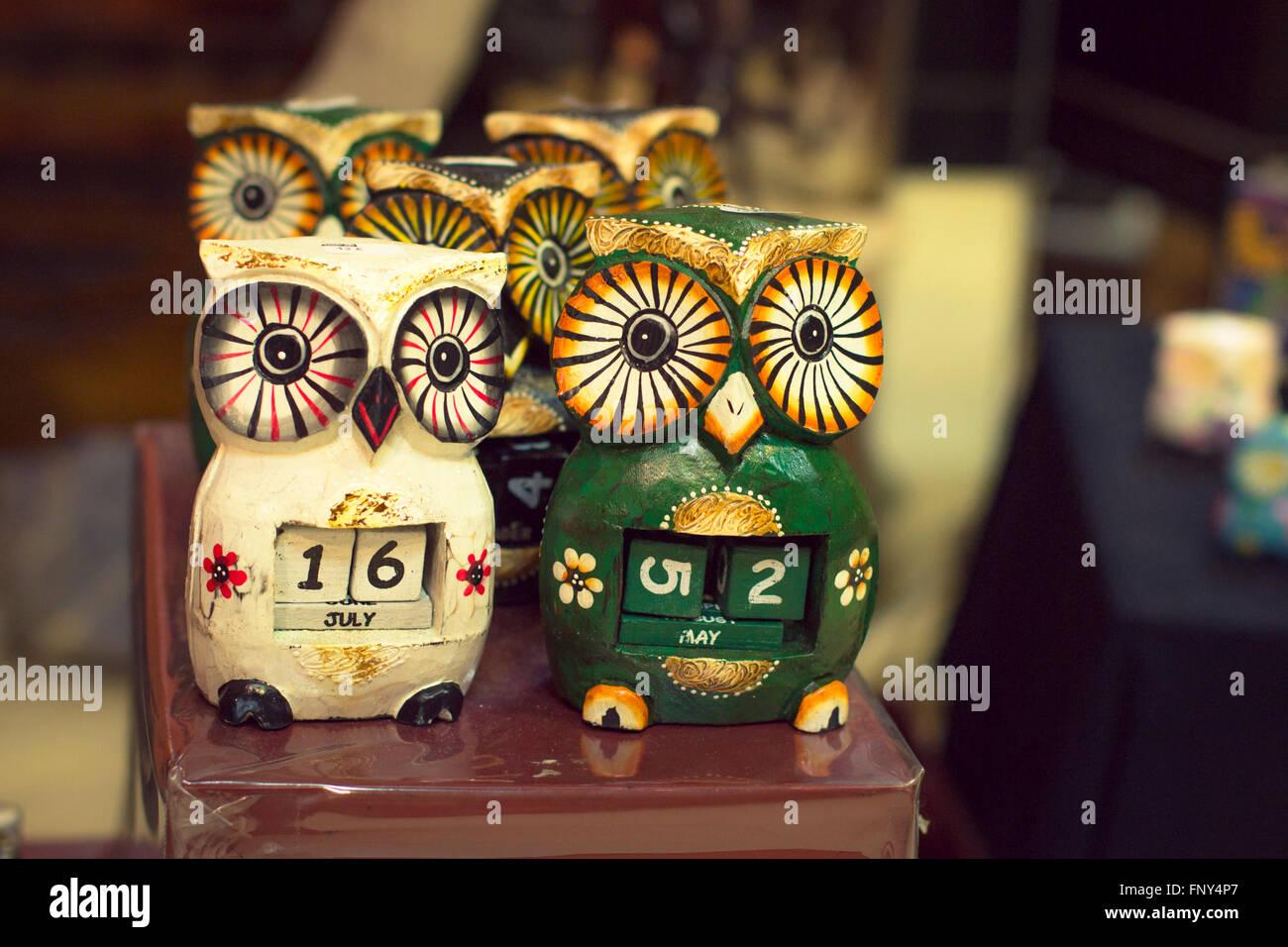 Valencia Calendar.Torrevieja Spain September 6 2014 Souvenir Owl Calendar Tourist
