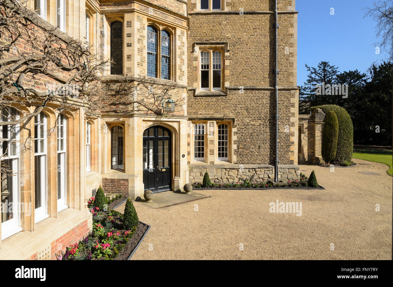 The Masters Lodge, Jesus College, University of Cambridge, Cambridge, England, UK. - Stock Image