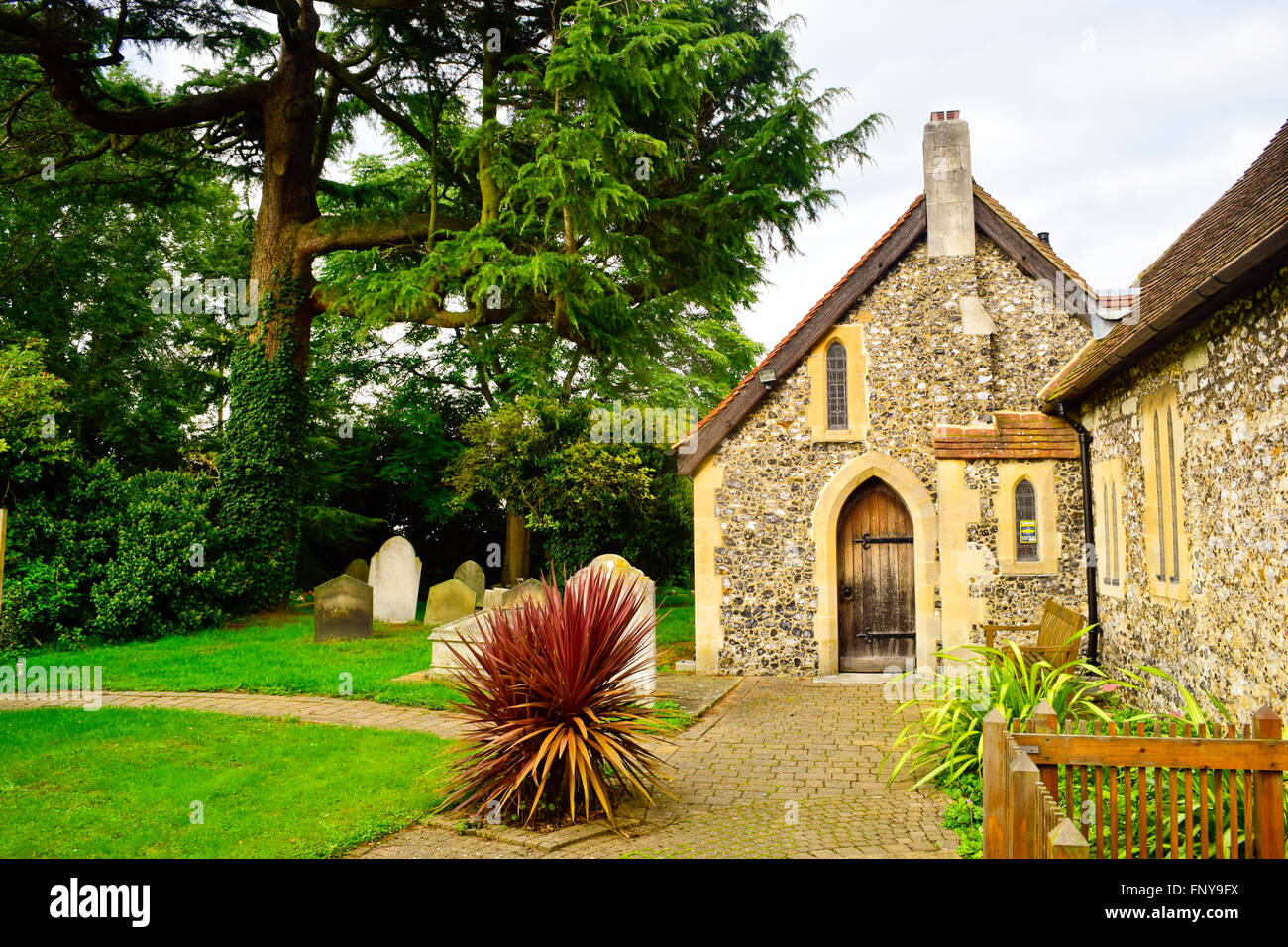 Diocese of Guildford. Parish Church of St. Mary the Virgin. Chessington. London, United Kingdom Stock Photo