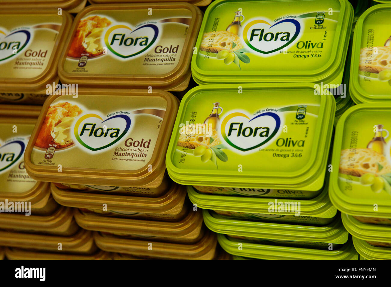 Flora Butter a Unilever Product - Stock Image