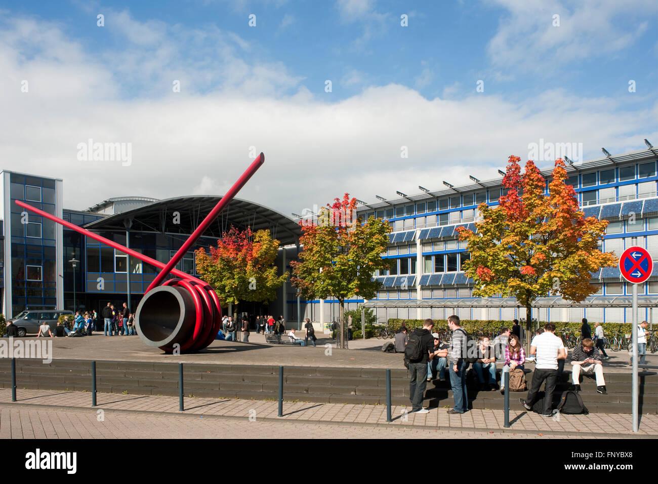 Deutschland, Nordrhein-Westfalen, Rhein-Sieg-Kreis, Sankt Augustin, Hochschule Bonn-Rhein-Sieg - Stock Image