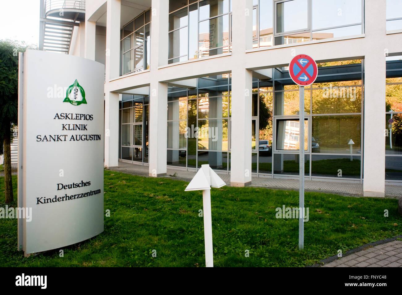Deutschland, Nordrhein-Westfalen, Rhein-Sieg-Kreis, Sankt Augustin, Asklepios Klinik, Deutsches Kinderherzzentrum - Stock Image