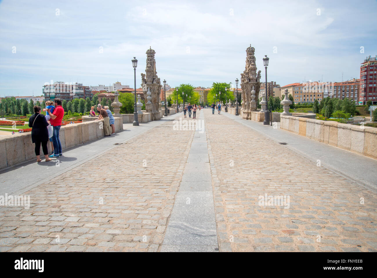 Toledo bridge. Madrid, Spain. - Stock Image