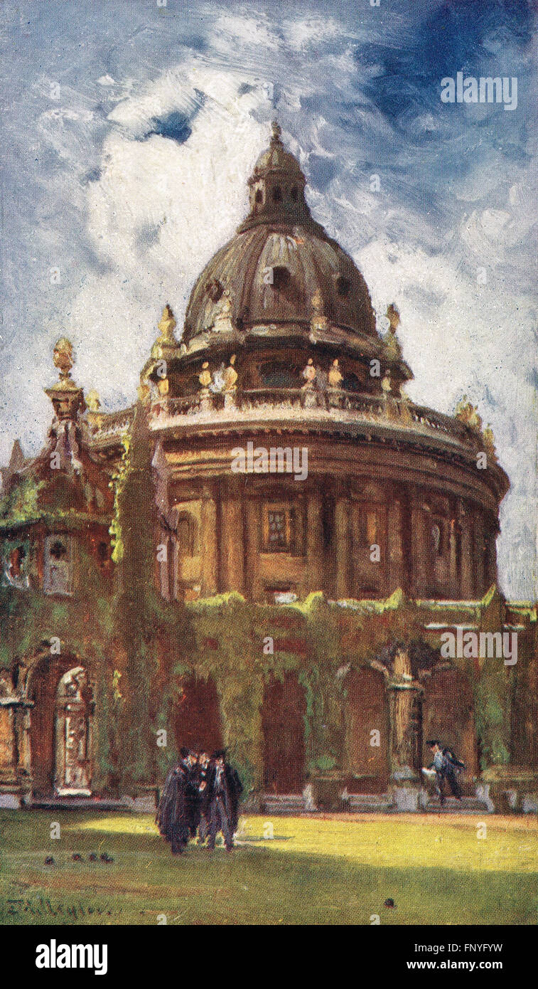 Radcliffe Camera viewed from All Souls College Early 20th century - Stock Image