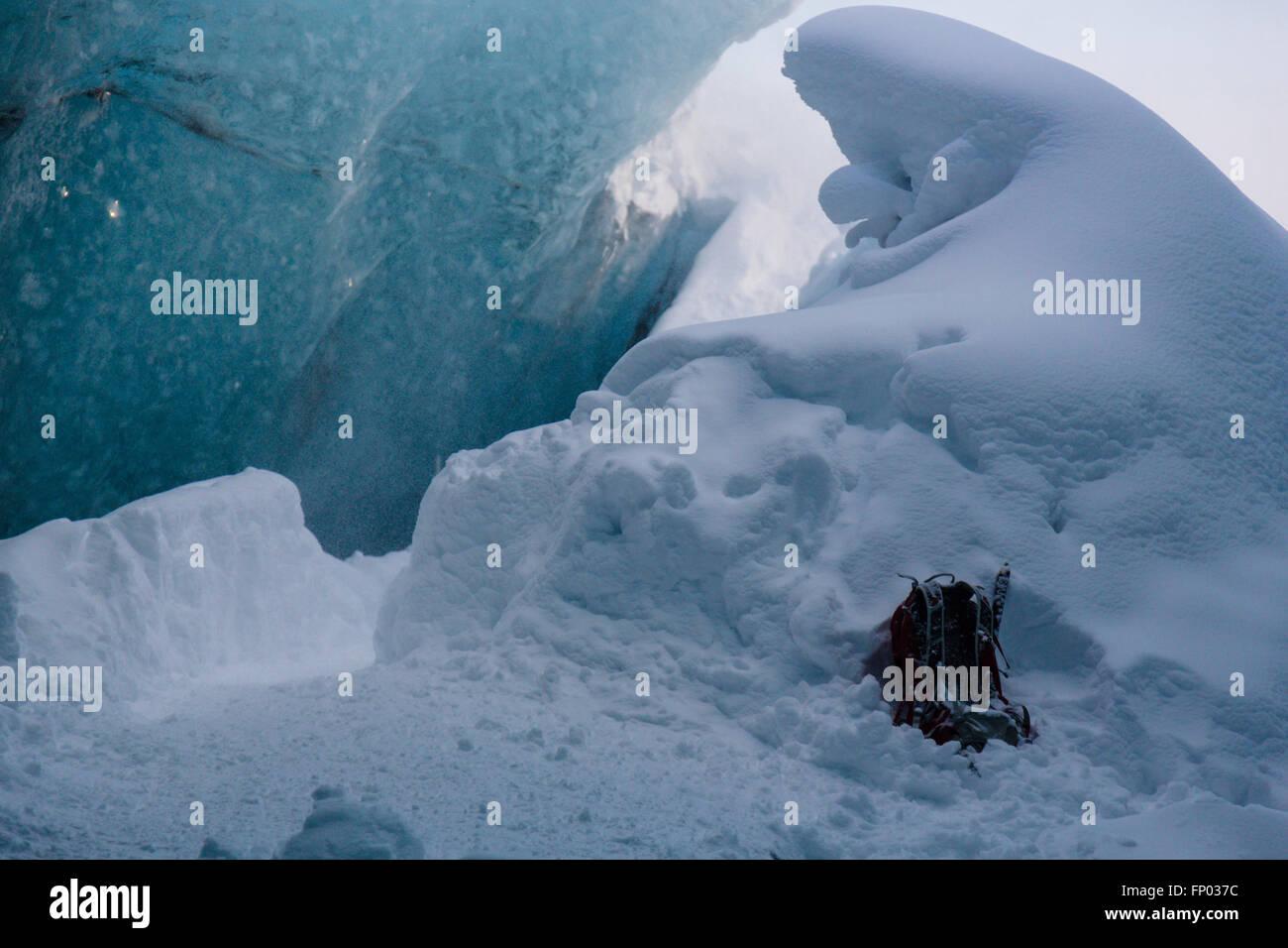 Ice Cave, Vatnajökull Nationalpark, Glacier, Iceland - Stock Image