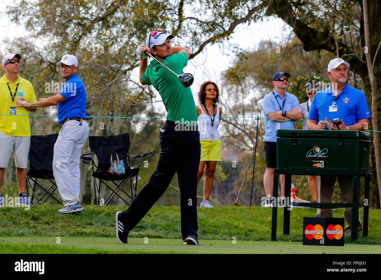 16th March, 2016. Justin Rose, English golfer playing at the Arnold Palmer Invitational Golf Tournament at Bay Hill Golf Club, Orlando, Florida Credit: ...