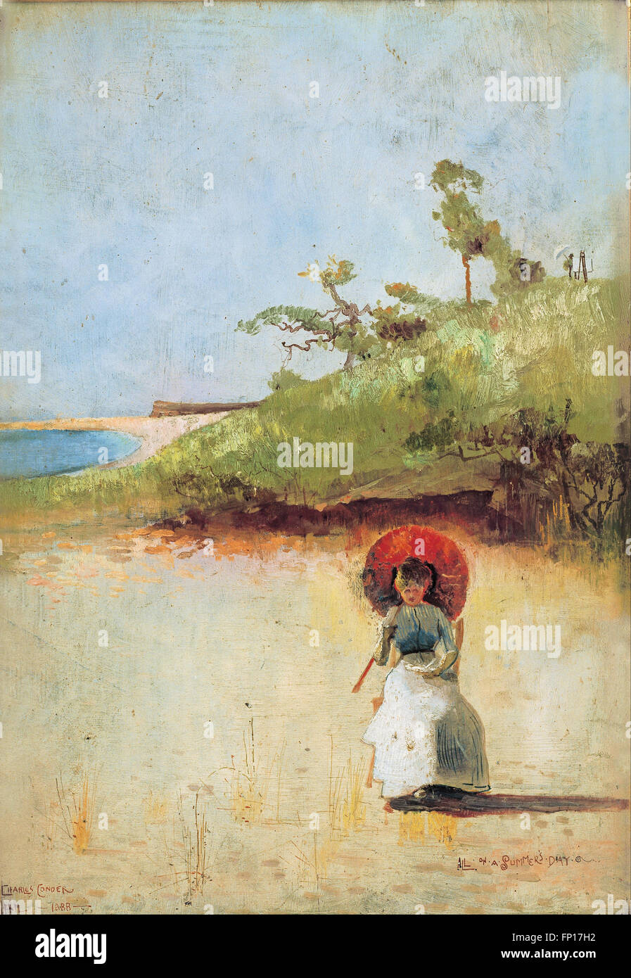 Charles Conder - All on a summer's day - Stock Image