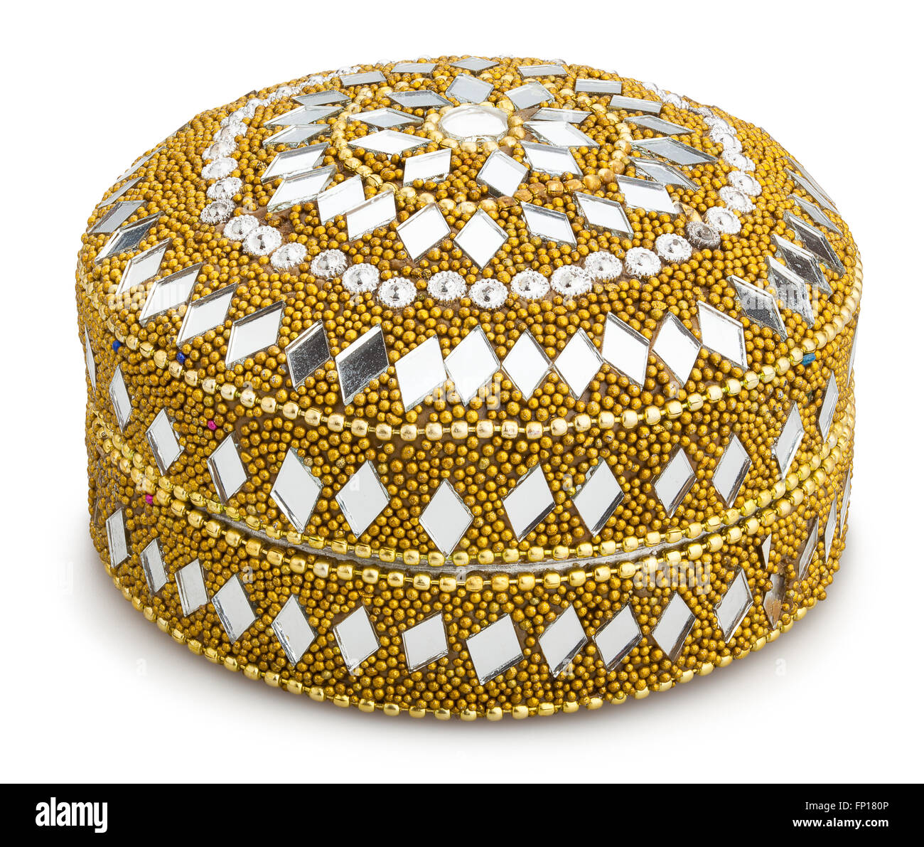 indian jewel box isolated Stock Photo