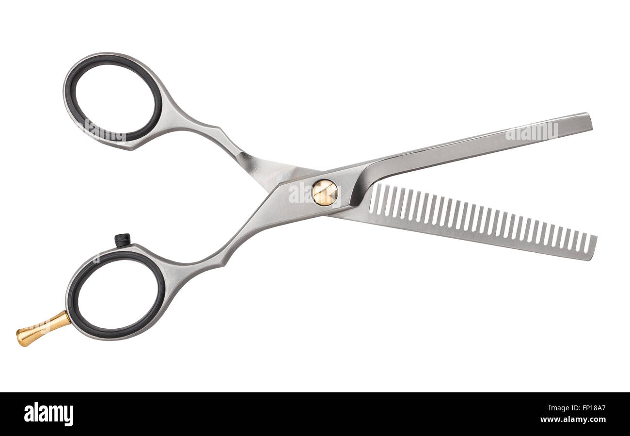barber scissors isolated - Stock Image