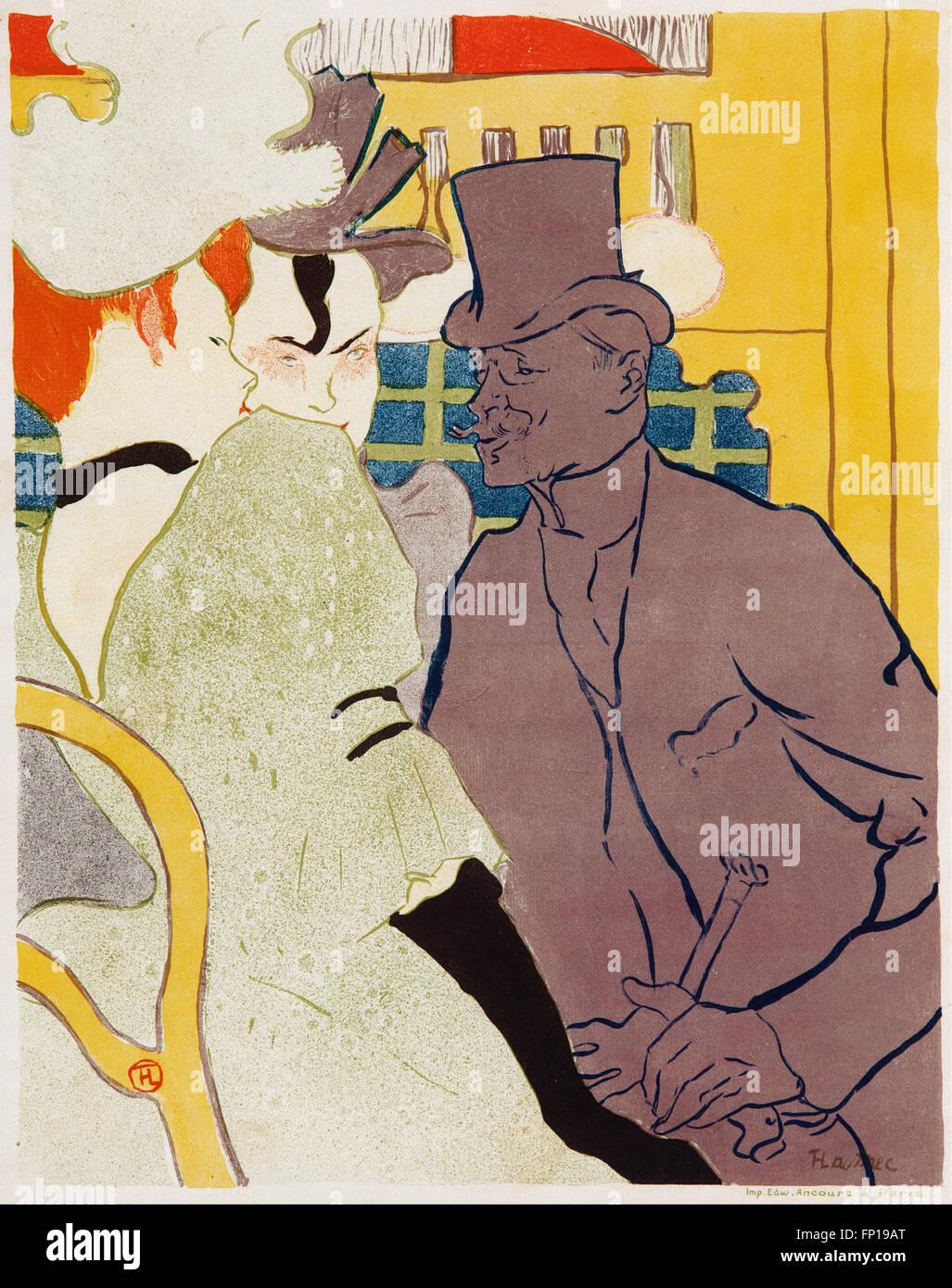 Henri de TOULOUSE-Lautrec - The Englishman at the Moulin Rouge - Stock Image