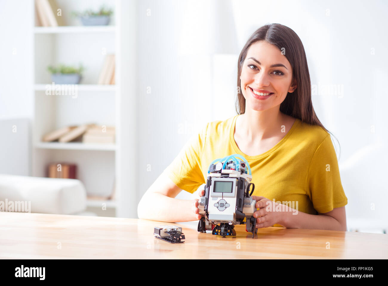 I like this robot very much - Stock Image