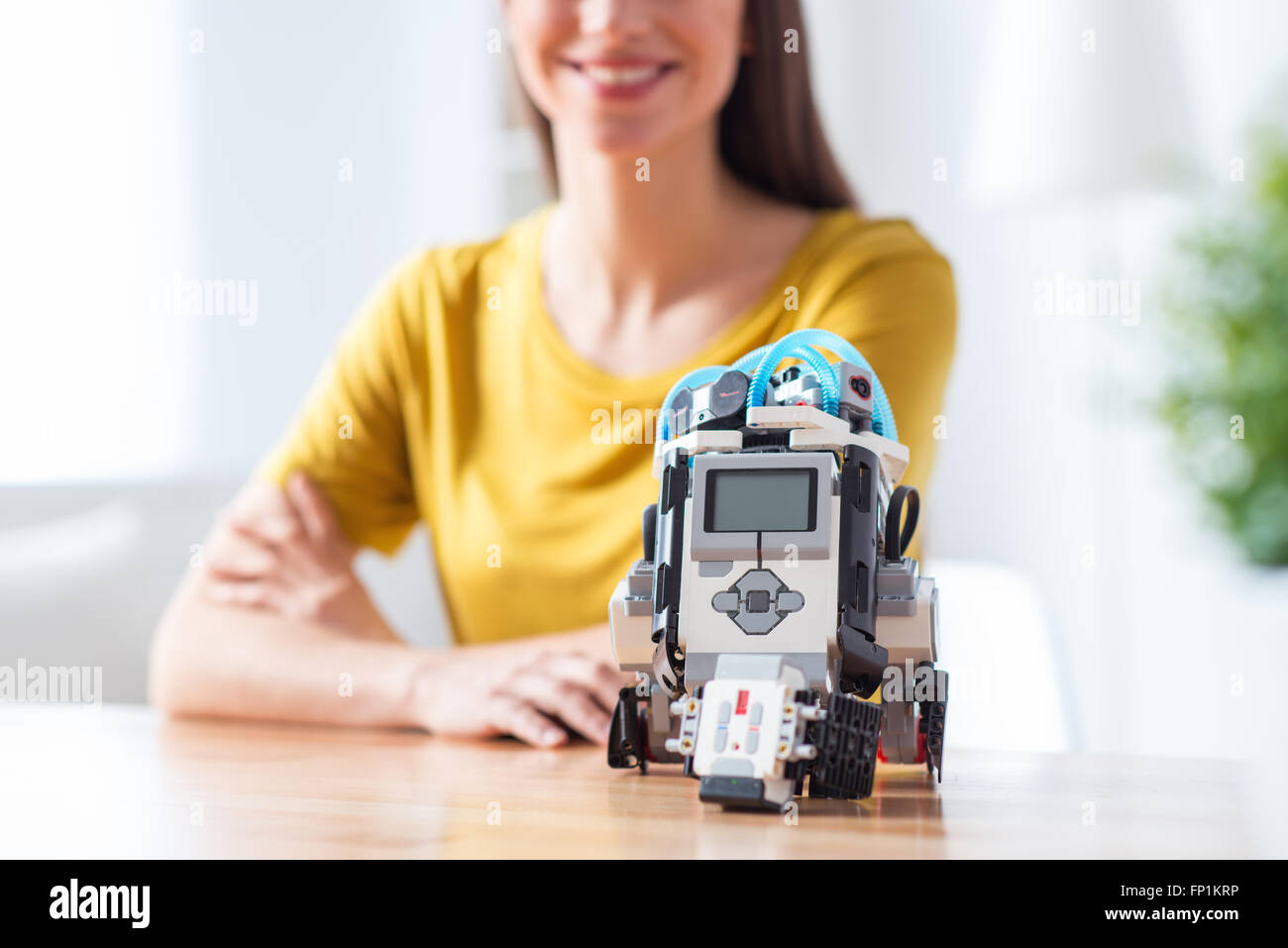 Robot in my life now - Stock Image