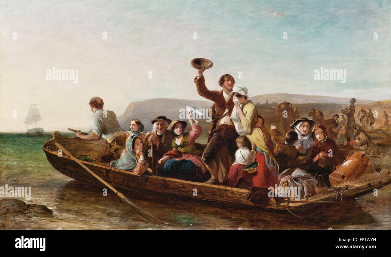 Thomas Falcon Marshall - Emigration - the parting day - Stock Image