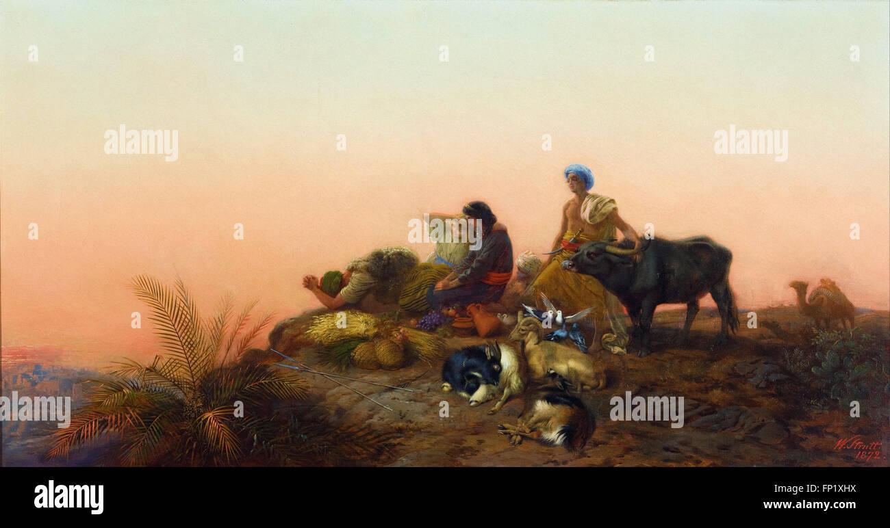 William Strutt - Jerusalem pilgrims - Stock Image