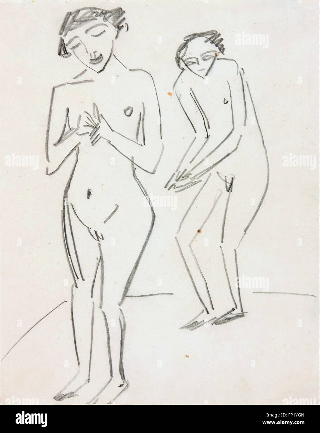Ernst Ludwig Kirchner - Man and woman - Stock Image