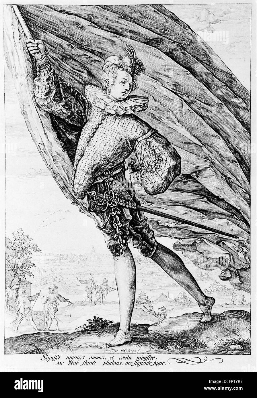 Hendrick Goltzius - The great standard-bearer - Stock Image