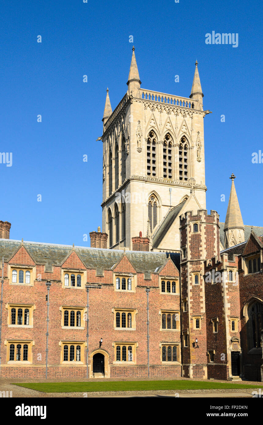 A quad at St Johns College, part of the University of Cambridge, England, United Kingdom. - Stock Image