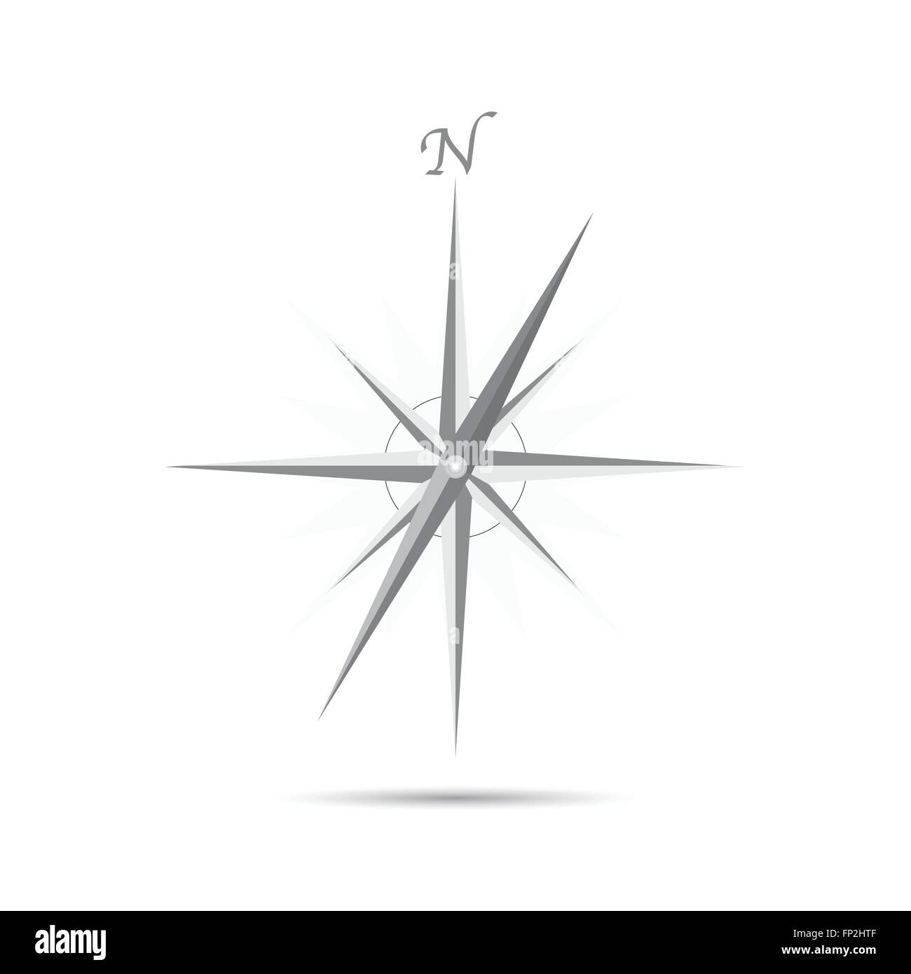 Illustration of an abstract compass design isolated on a white background. - Stock Vector