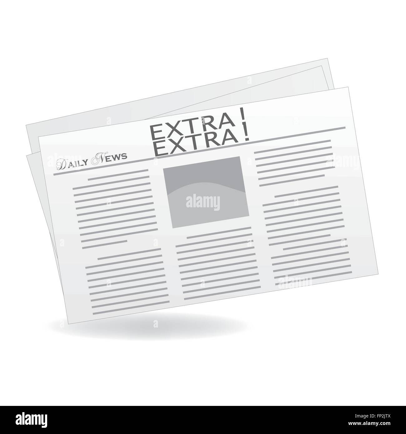 newspaper front page blank stock vector images - alamy