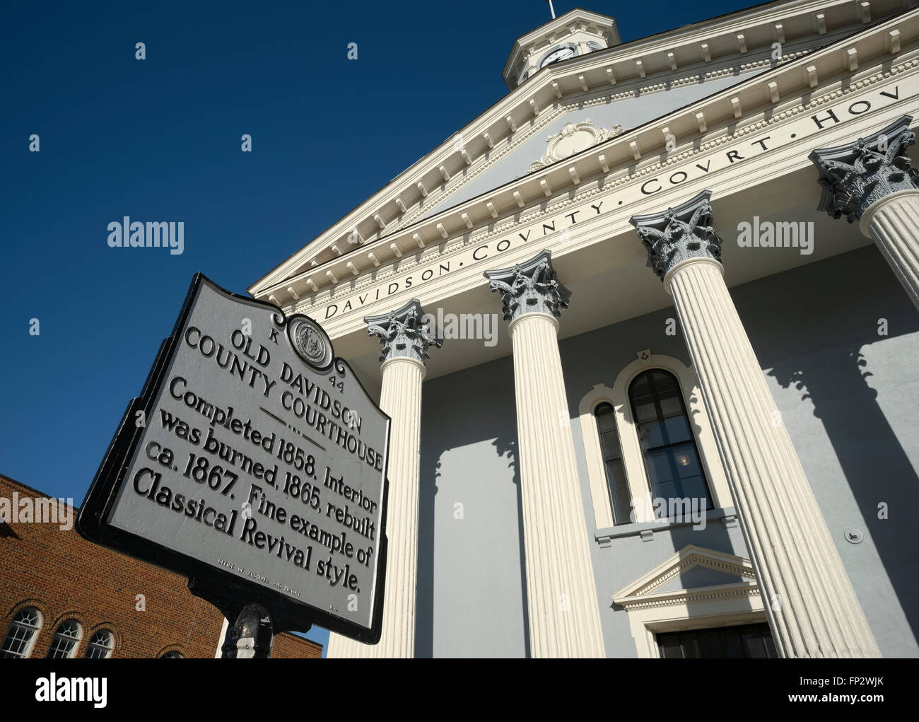 Old Davidson County Courthouse Lexington North Carolina - Stock Image