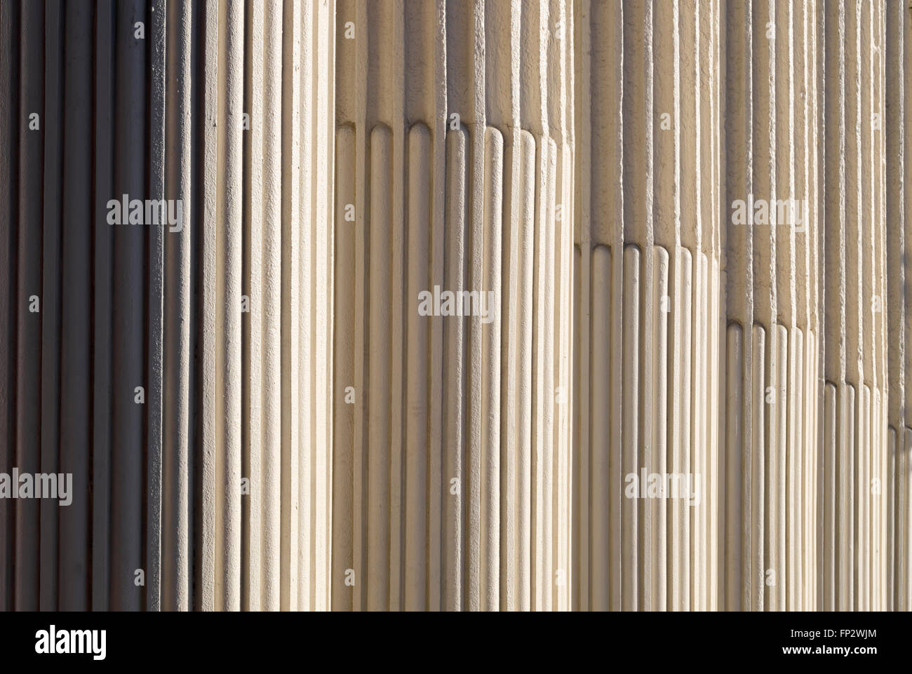 Pillars, Columns of Old Davidson County Courthouse Lexington North Carolina - Stock Image