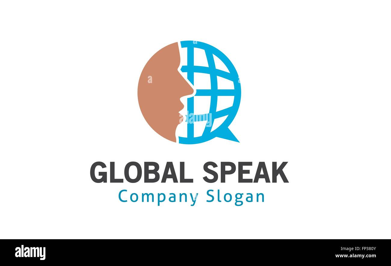 Global Speak Design Illustration - Stock Image