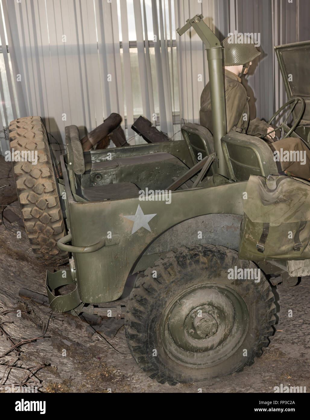 MOSCOW, RUSSIA- DECEMBER 16- MB- four-wheel drive vehicle 'Willys' (1942) at the Central Museum of the armed - Stock Image