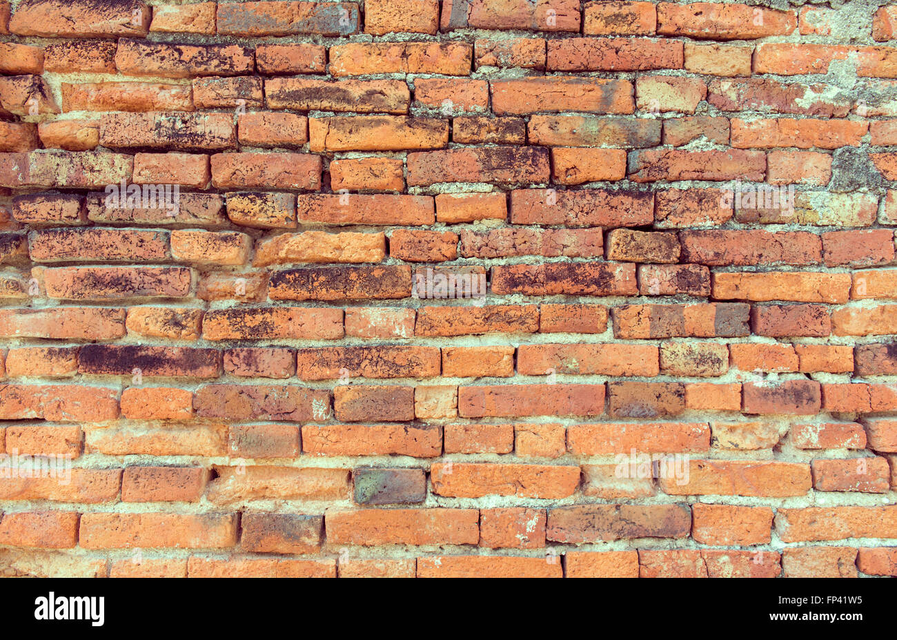 Ancient brick made from clay centuries-old. Stock Photo