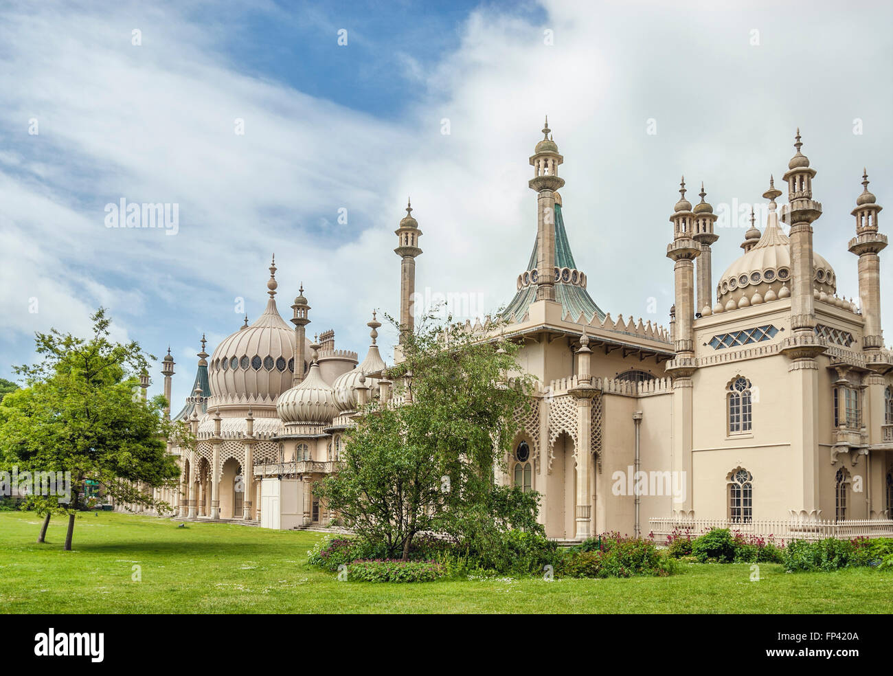 Historical Royal Pavilion in Spring, Brighton. East Sussex, South England. - Stock Image