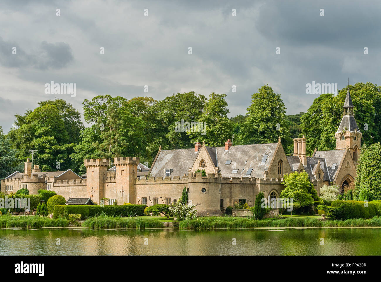 Estate Offices &  Workers Block at Newstead Abbey, Nottinghamshire, England - Stock Image