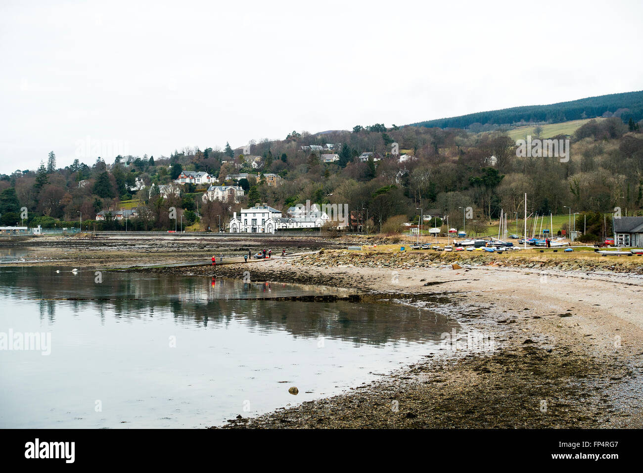 The Entrance to Gare Loch by Helensburgh Sailing Club Argyll and Bute Scotland United Kingdom UK - Stock Image