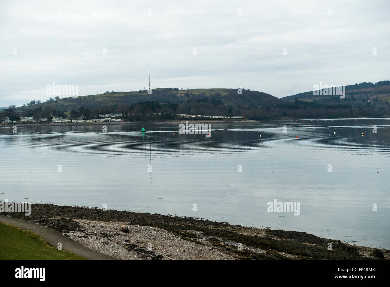 The Entrance to The Gare Loch off The River Clyde near Helensburgh Argyll and Bute Scotland United Kingdom UK - Stock Image