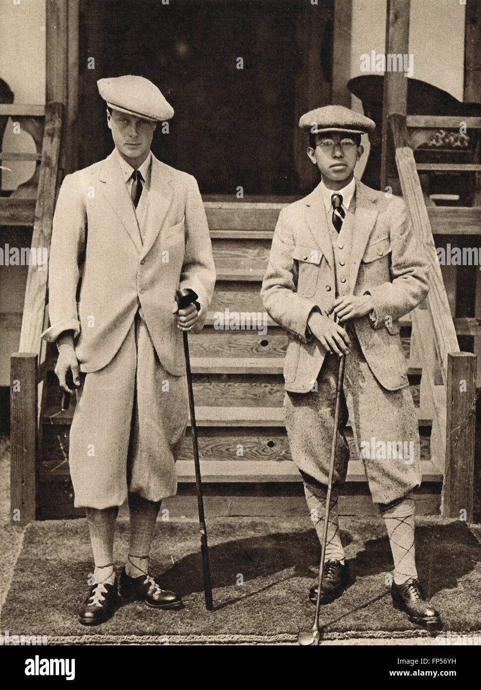 Edward Prince of Wales the Future King Edward VIII   the Prince Regent of  Japan posing with golf gear Japan 1922 d636b6bf49a1