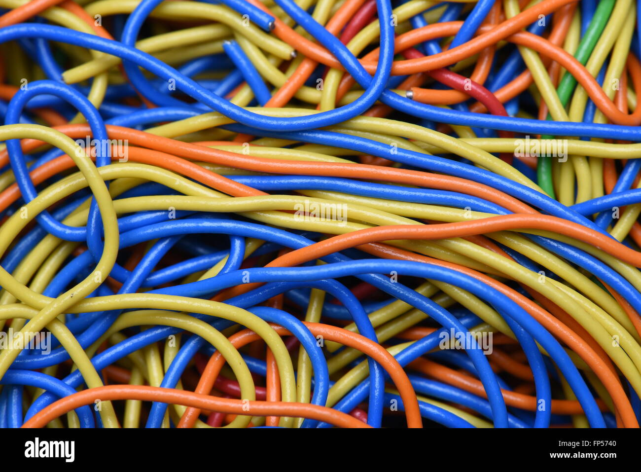 Closeup colored cables and wires Stock Photo: 99689632 - Alamy