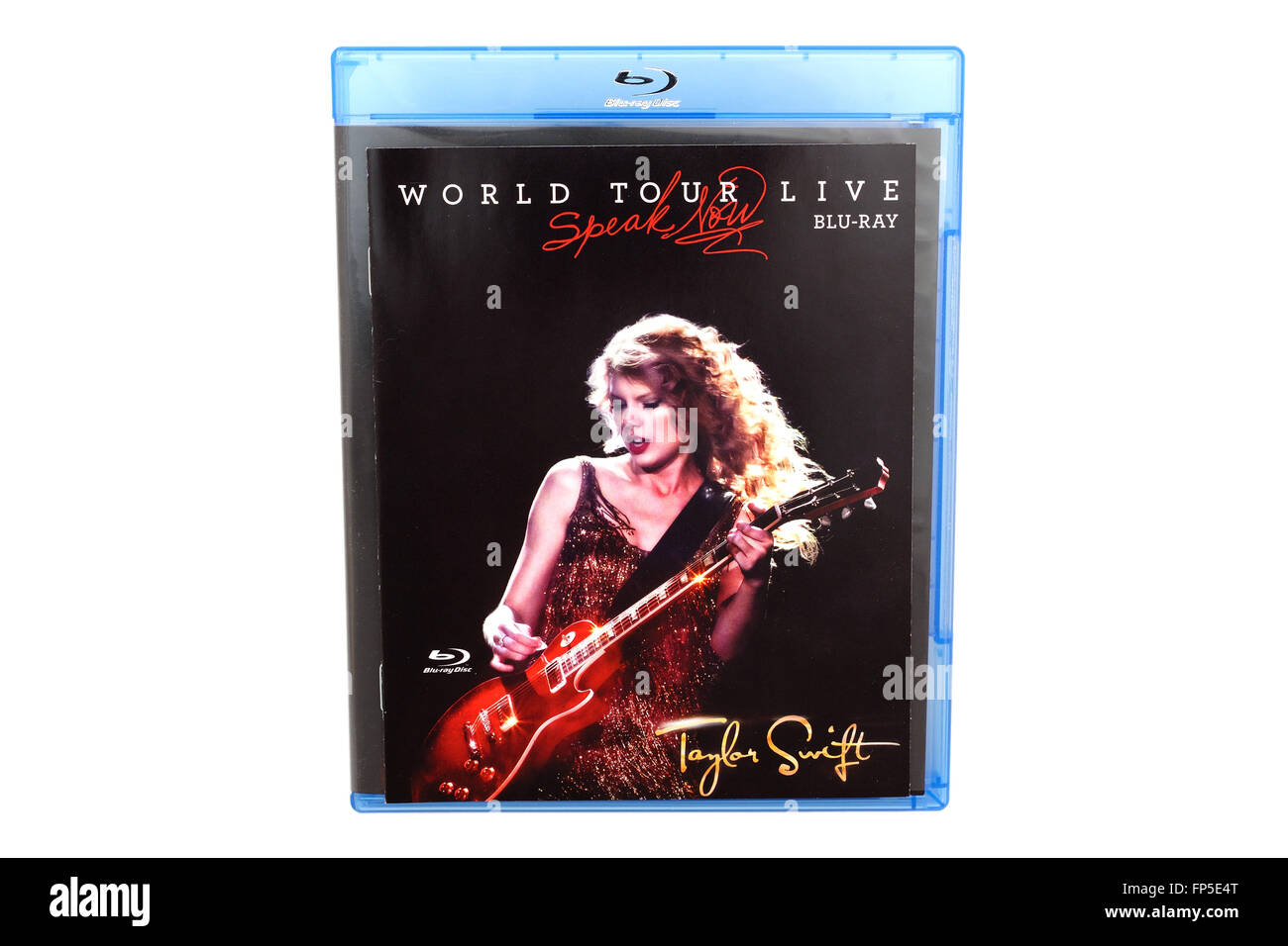 BARCELONA, SPAIN - DEC 27, 2014: The Speak Now World Tour Live, the first live album by American singer-songwriter - Stock Image