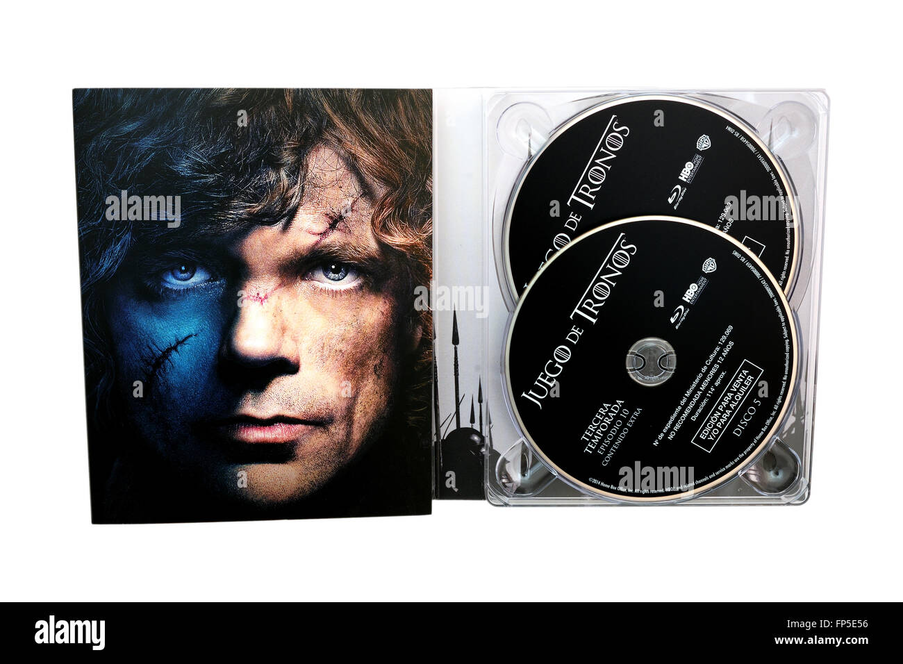 Game of Thrones, television series created for HBO, on Blu-Ray disc edition, with Tyrion Lannister. - Stock Image