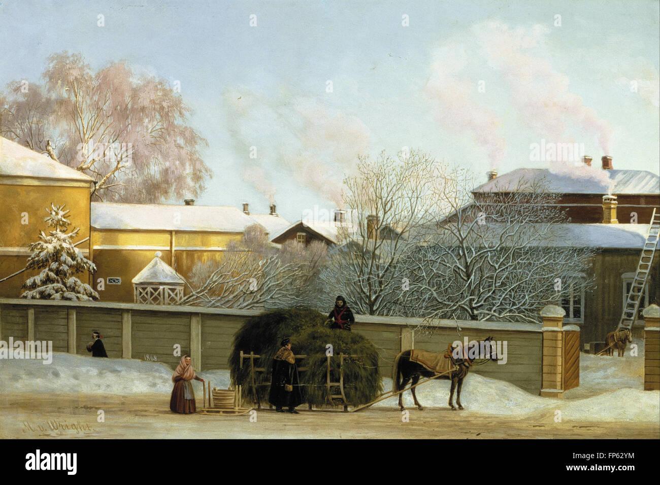 Magnus von Wright - Annankatu on a Cold Winter Morning - Stock Image