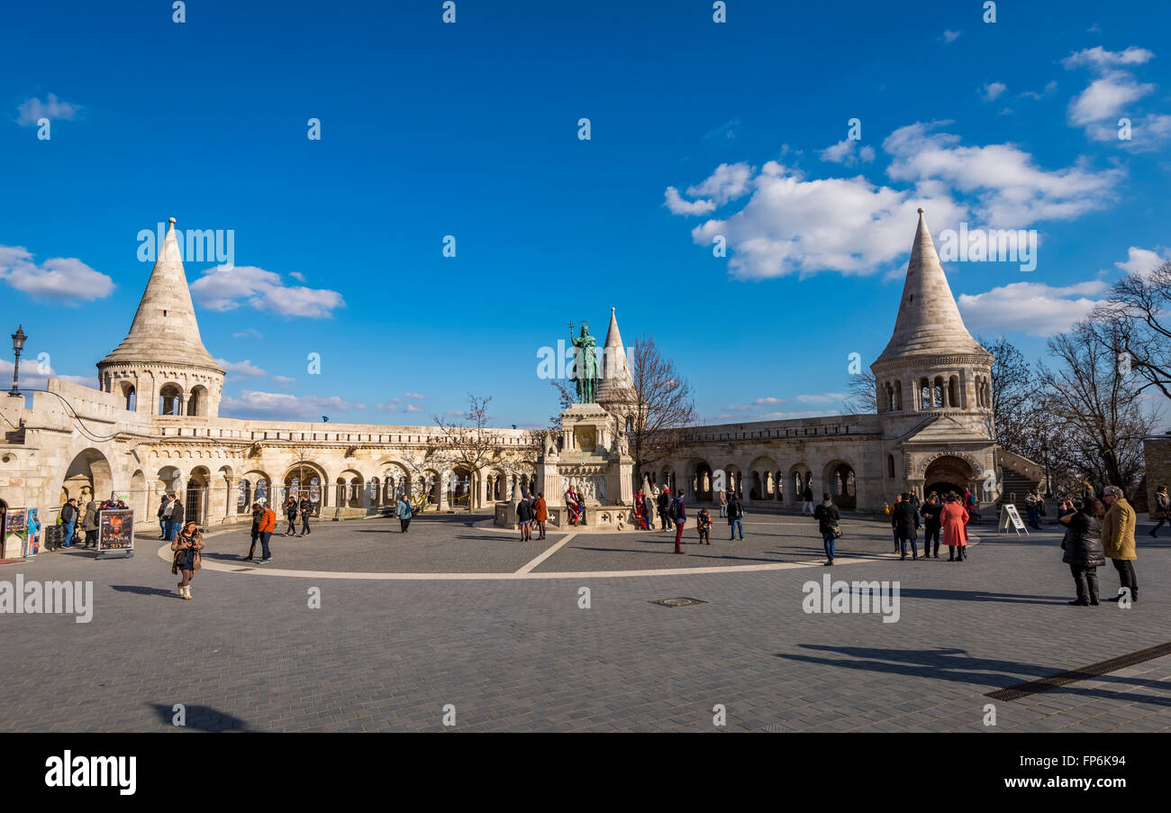 Fisherman's Bastion in Budapest Hungary - Stock Image