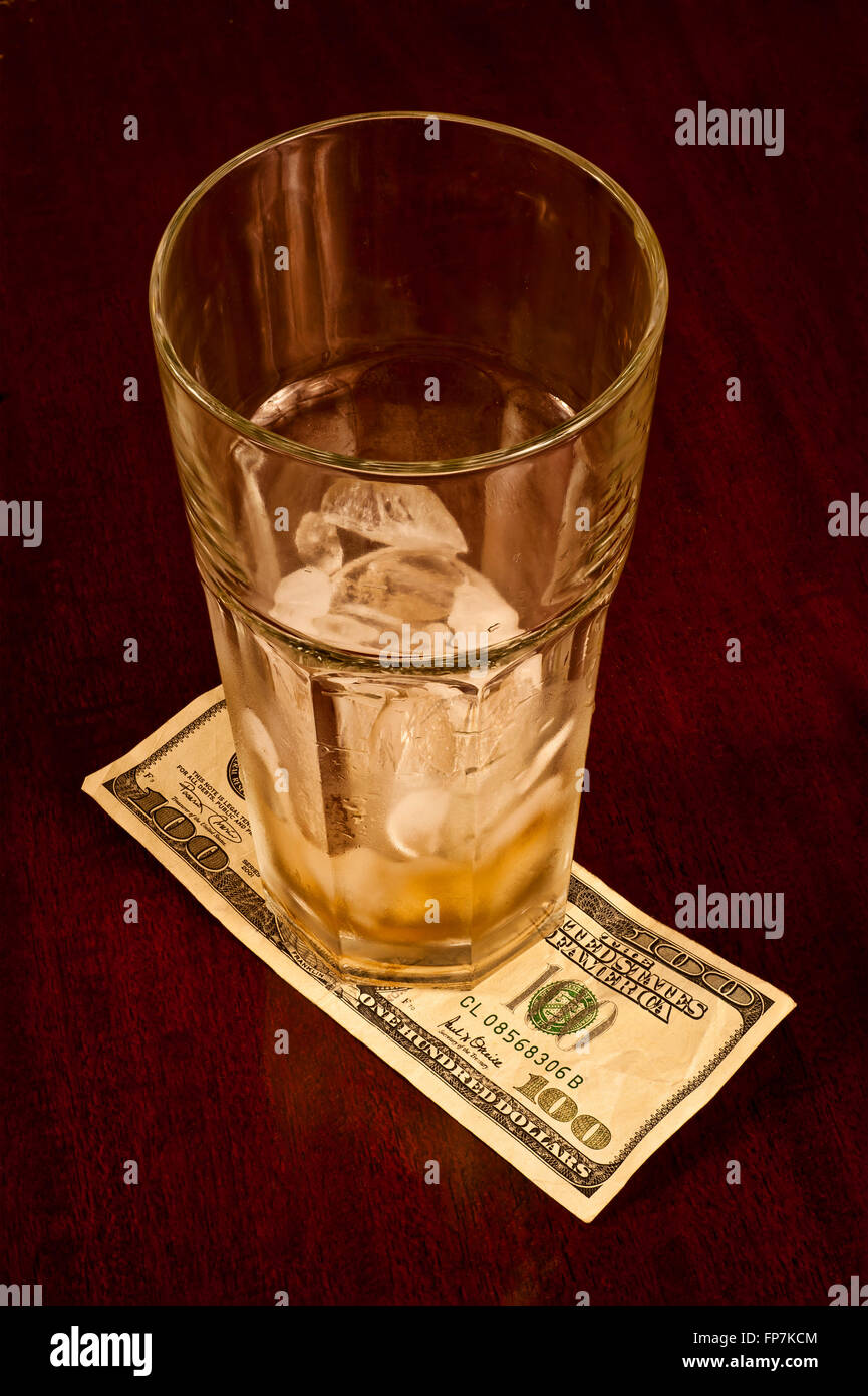 Hundred Dollar Tip - Stock Image