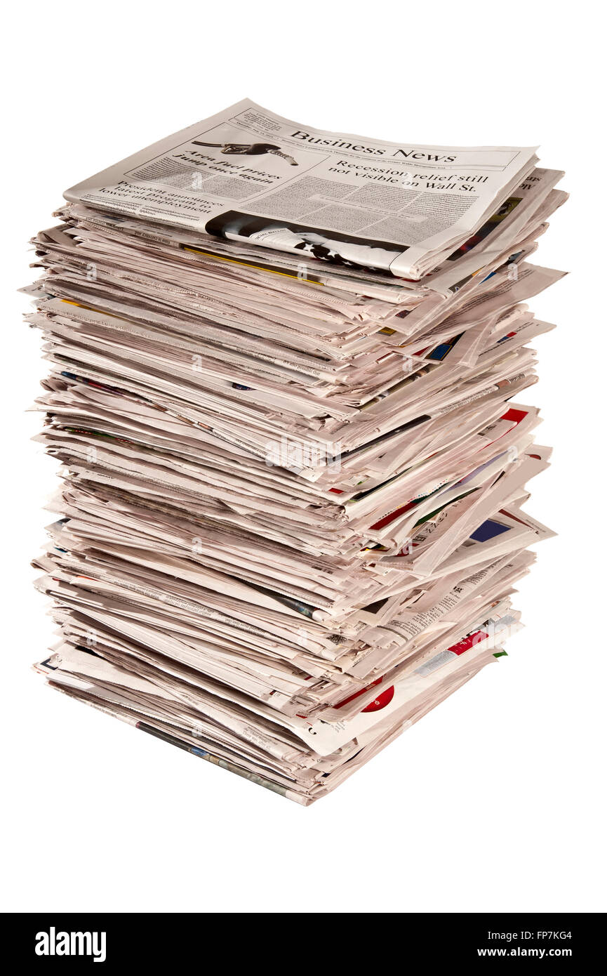 tall newspaper pile stock photos & tall newspaper pile stock images