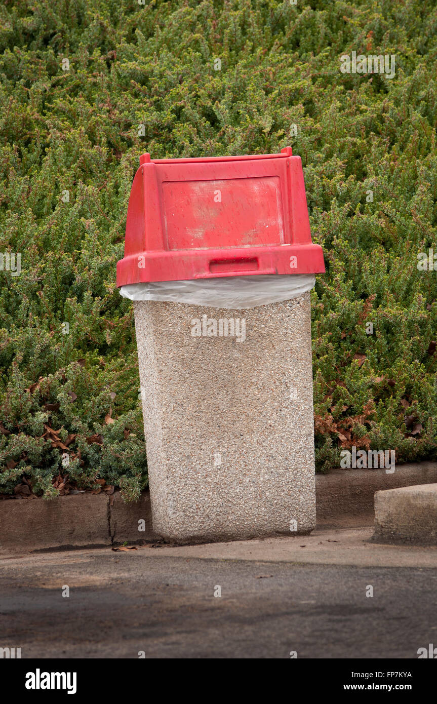 Outdoor Trash Container - Stock Image