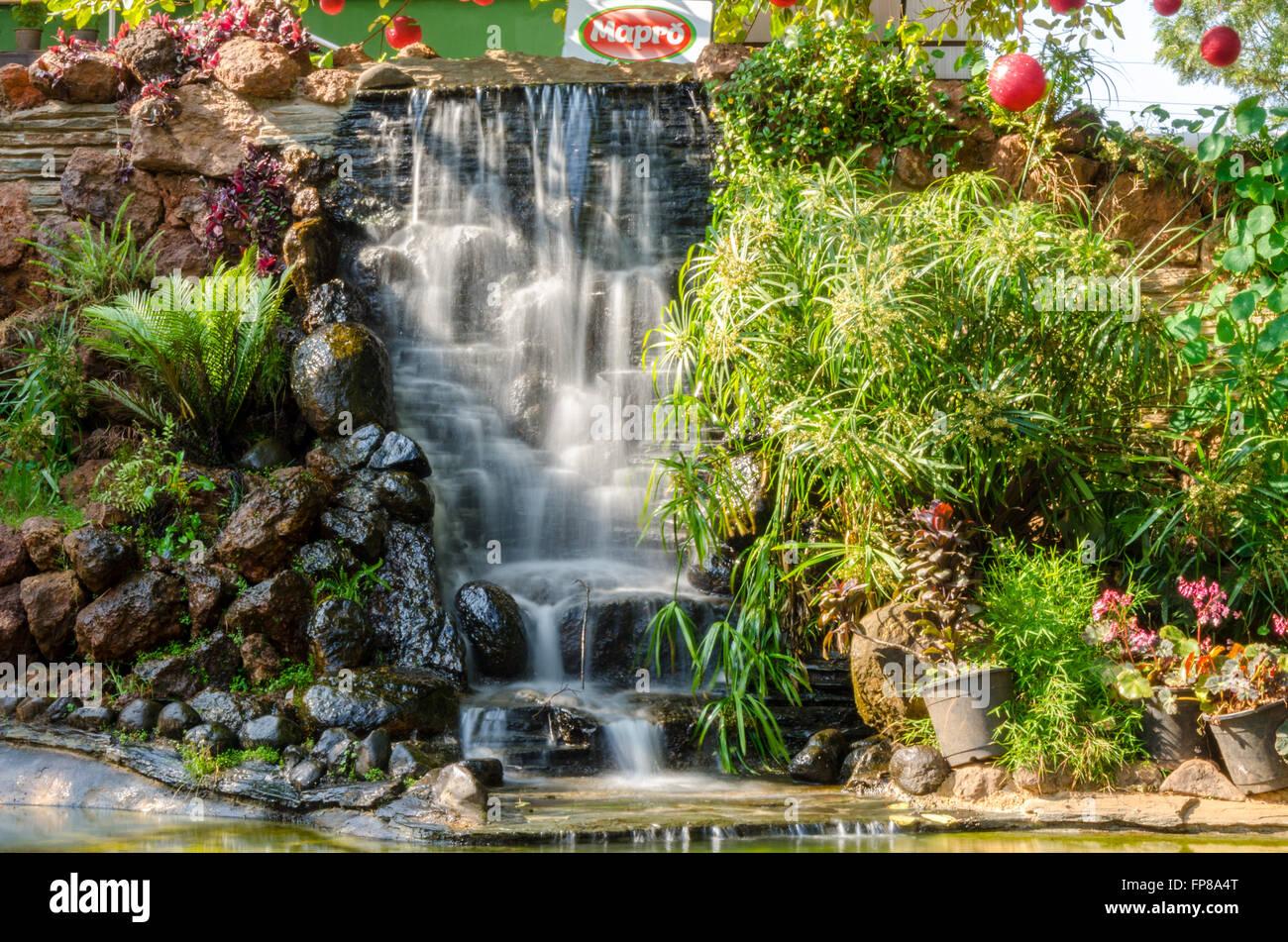 Small Waterfall At Mapro Garden Panchgani Maharashtra India Stock Photo Alamy