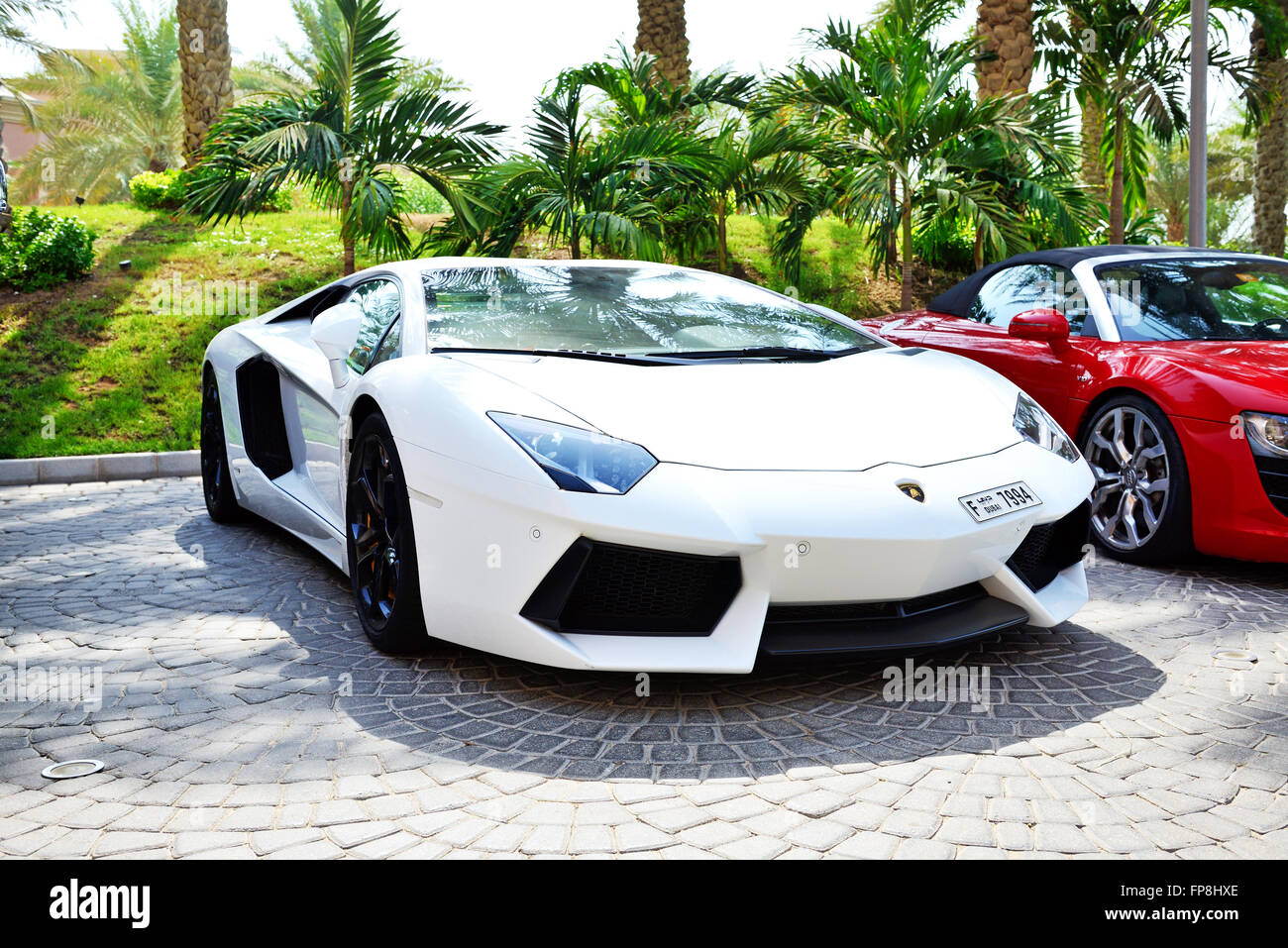 The Atlantis The Palm Hotel And Luxury Sport Cars, Dubai, UAE