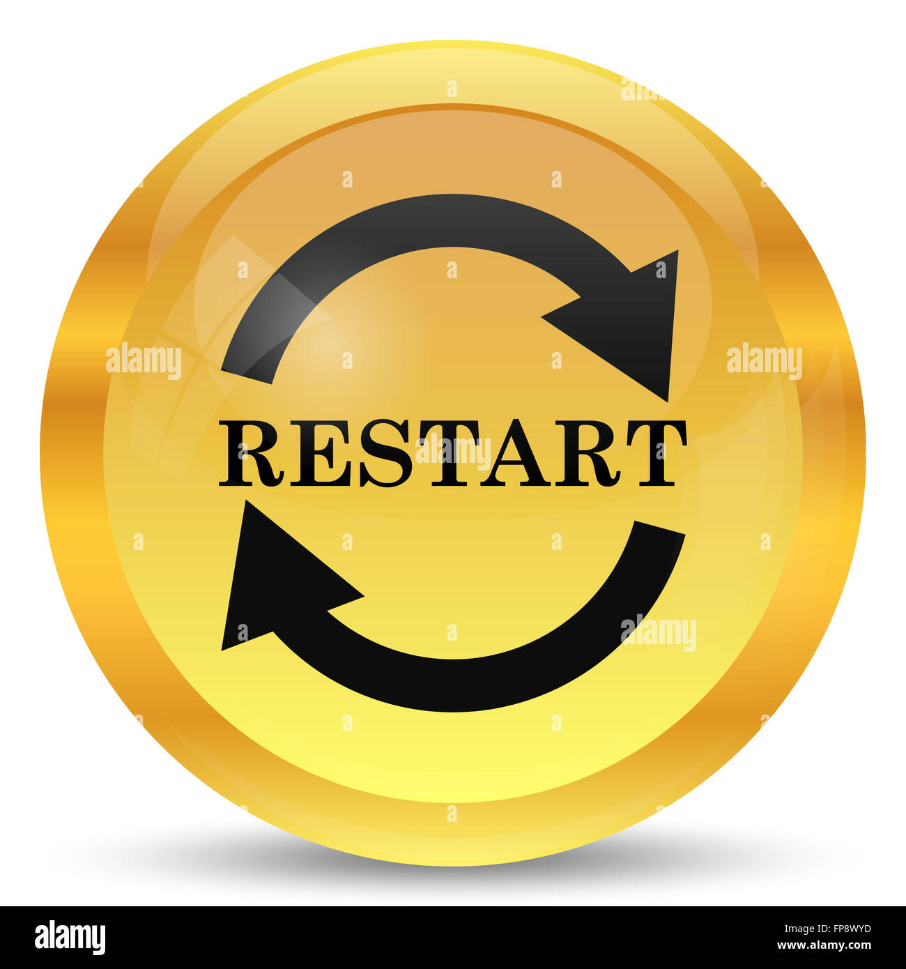 restart icon internet button on white background stock photo alamy https www alamy com stock photo restart icon internet button on white background 99770257 html