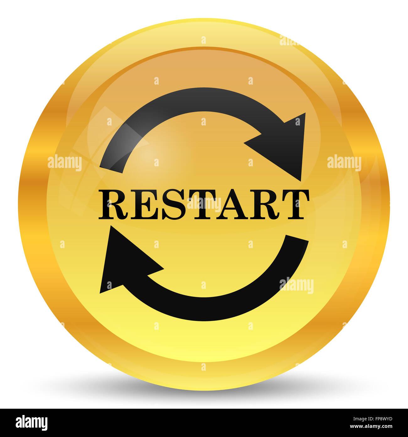 restart icon internet button on white background stock photo alamy https www alamy com stock photo restart icon internet button on white background 99770257 html