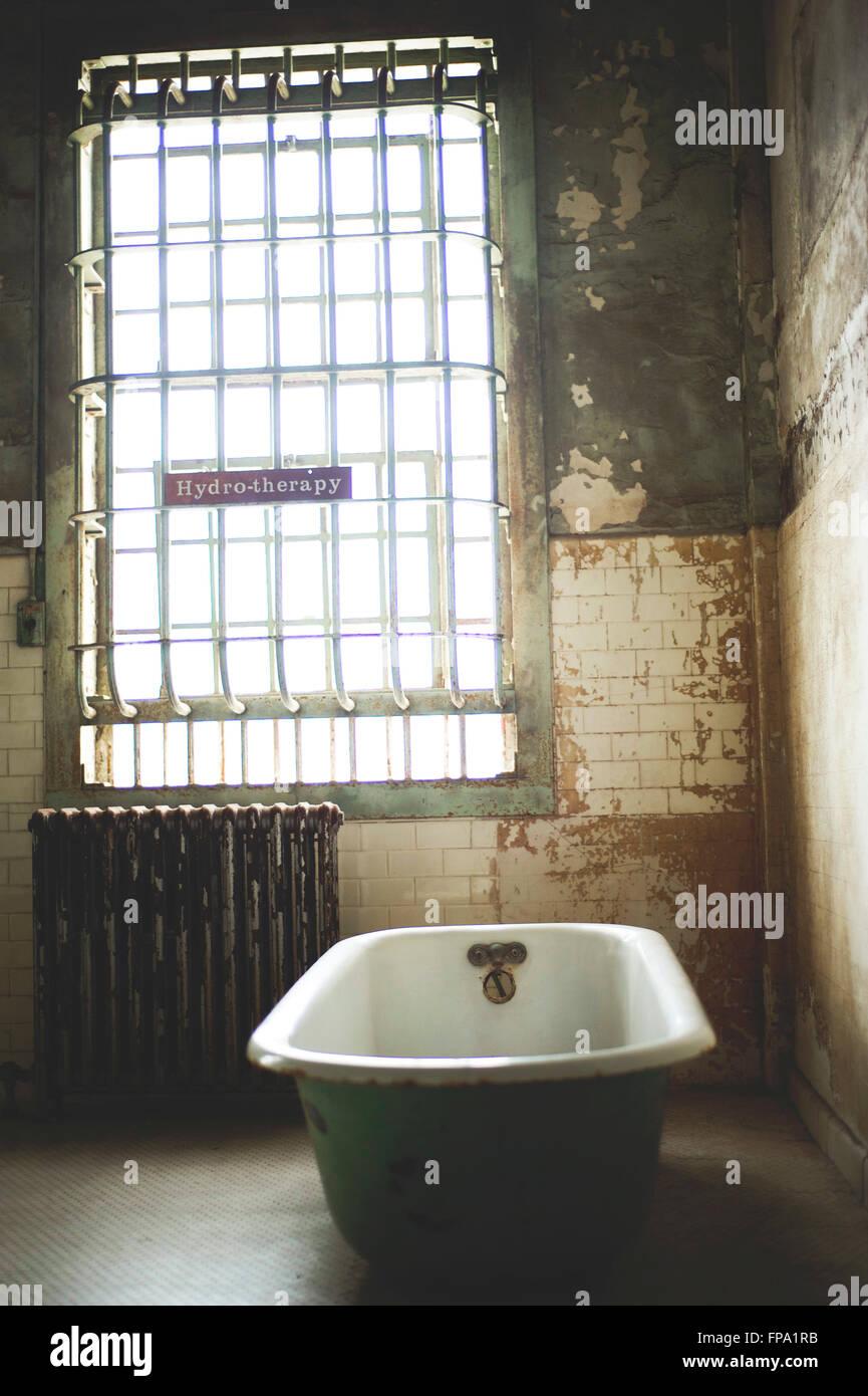 Hydrotherapy room at Alcatraz Stock Photo