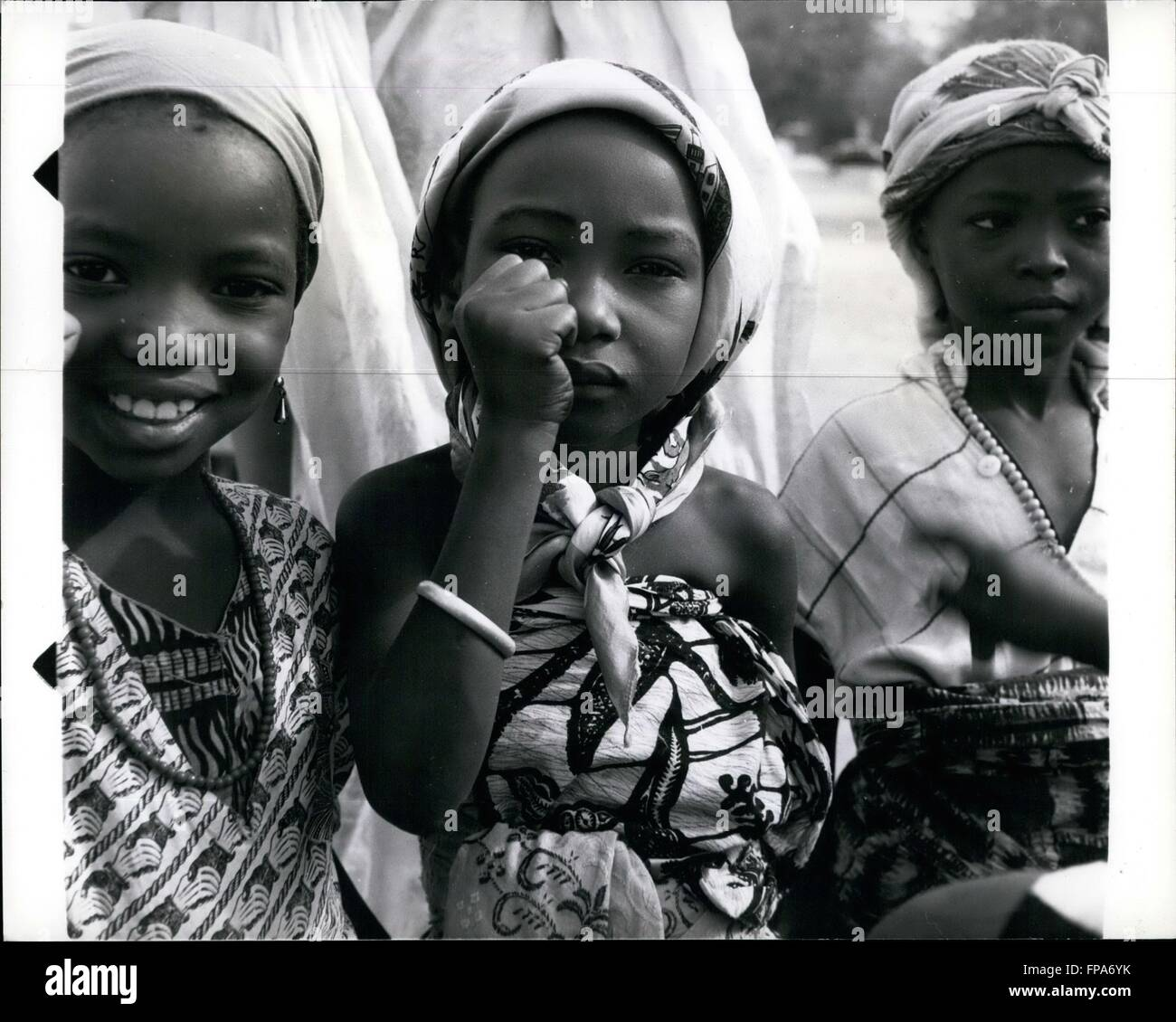 1972 - The Gloucesters Get A Rousing Welcome In N. Nigeria The Duke and Duchess of Gloucester who are visiting Northern - Stock Image