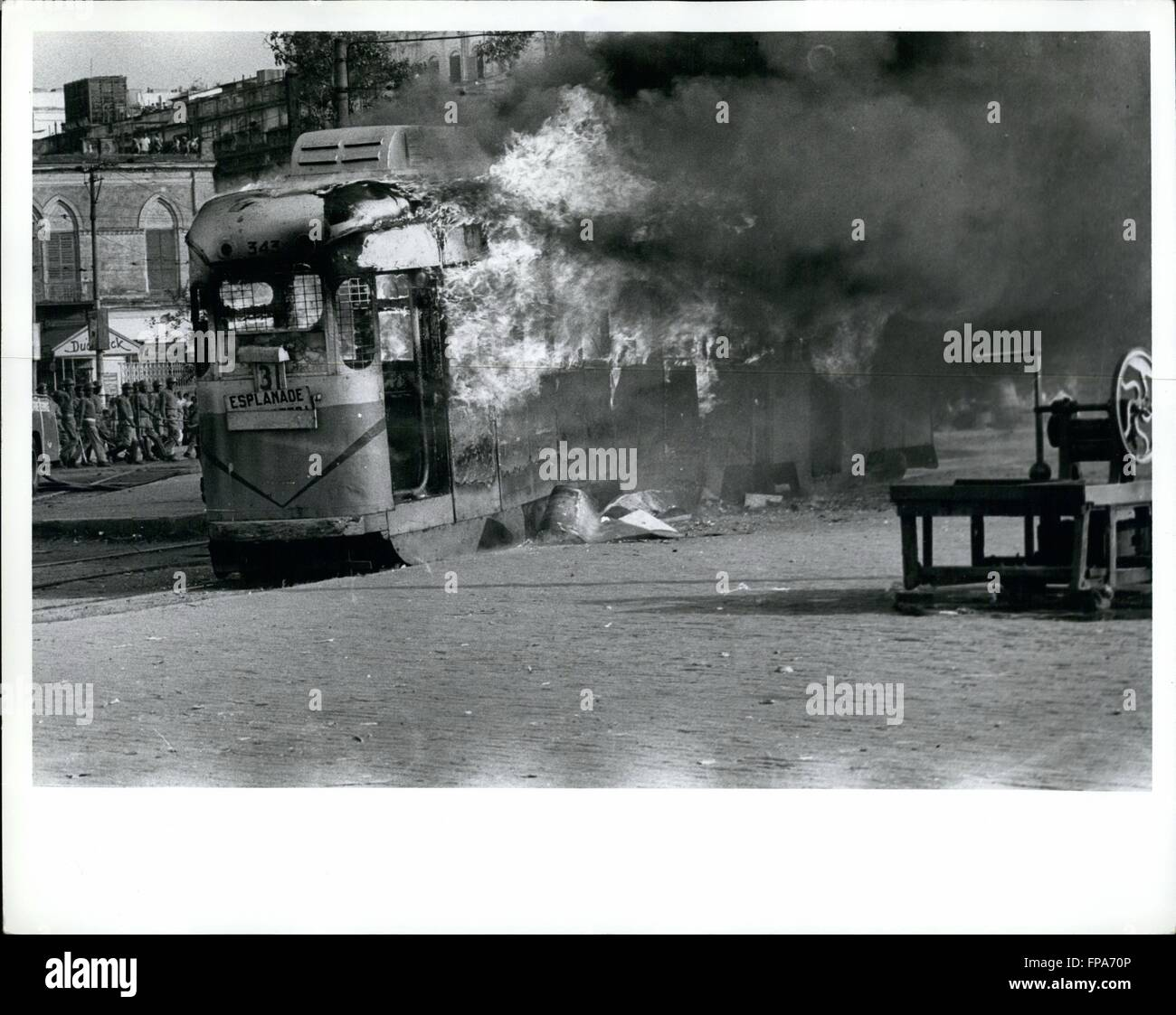 1967 - Calcutta Violence : A fresh wave of mob violence and rioting has been sweeping Calcutta since December 18 - Stock Image
