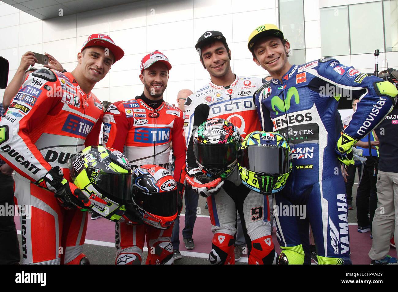 Doha, Qatar. 17th Mar, 2016. The 2016 Italian MotoGP ...